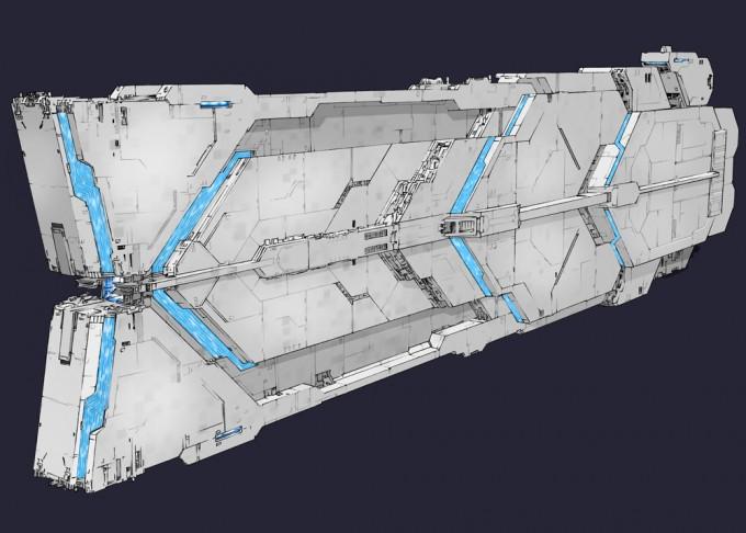エルメッツァ一部/ネスカージャ系/ ジーマ軍戦闘指揮艦B