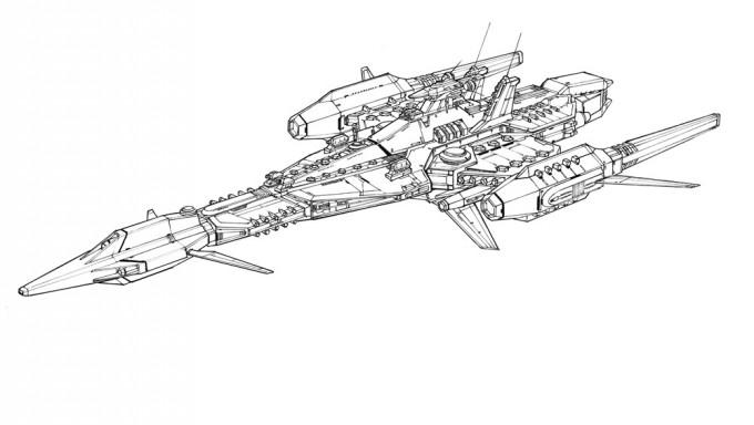 アイルラーゼン空間機甲艦隊 主力戦艦A TYPE